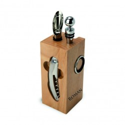 Wein Accessoires-Set Holz