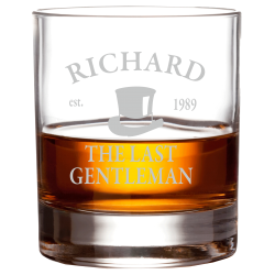 "Whiskyglas ""Last Gentleman"""